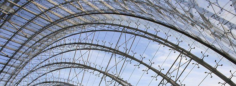 Referenz Leipziger Messe Glasabdichtungen der Empfangshalle, Glasversiegelung mit Spezialsilikon